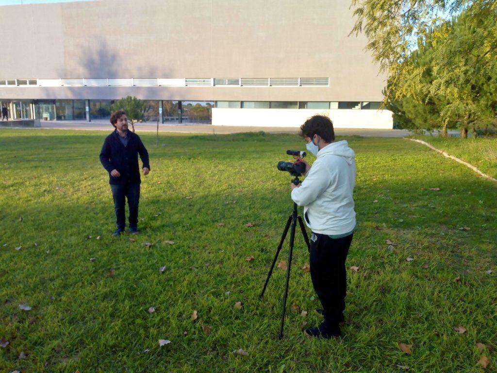 O1 Continuação da filmagem da sequência 2 na FCT/UNL